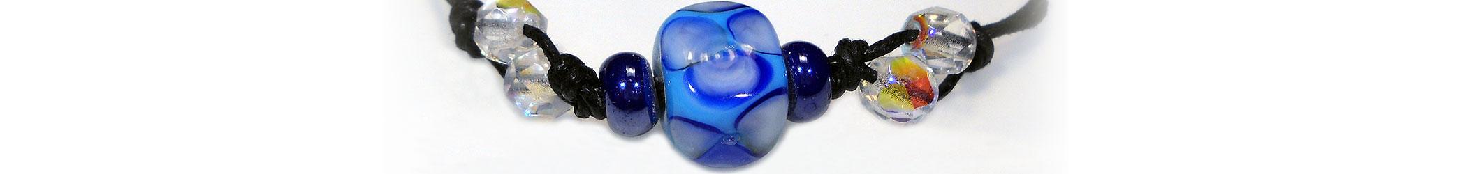 Coloratissimi Braccialetti in vetro di Murano con diverse lavorazioni