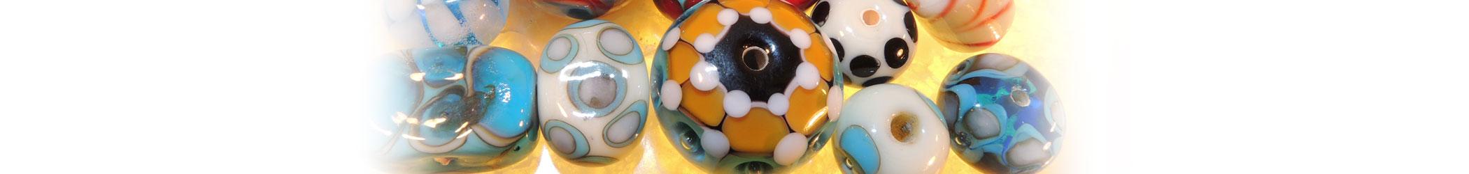 Coloratissime Collane in vetro di Murano con diverse lavorazioni